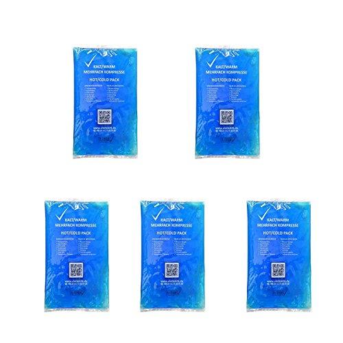 5 Stück 7,5 cm x 13 cm Kalt-Warm Kompresse Mehrfach kompresse Wiederverwendbar Coolpack Mikrowellen geeignet verschiedene Größen verfügbar (Kühl-pad)