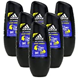 6 x 50ml Adidas SPORT ENERGY Roll On Deo Deodorant Rollon Deostick Herrendeo