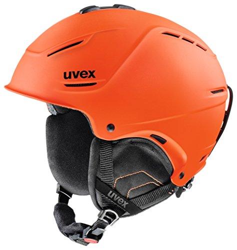 Uvex Unisex Skihelm p1us, darkorange mat, 59-62 cm, 5661538007