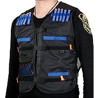 1 UNIDS Adultos Chaleco de Entrenamiento de Combate Táctico para Pistola de Espuma Suave Bala Dardos Cabeza Redonda Blasters (Negro)