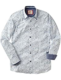 Joe Browns Men's Striped and Floral Combination Long Sleeved Shirt