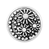 Clear Rhinestone Snap Button Stars Design Chunk Charm