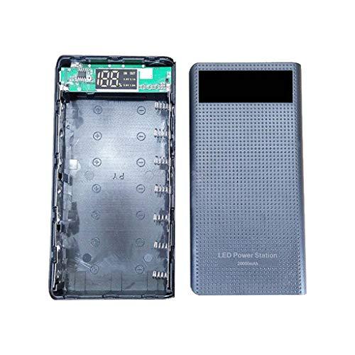 JENOR Dual USB 7x18650 Batterie DIY Power Bank Box Halter Für Handy Tablet PC (Samsung Tablet Power Plug)