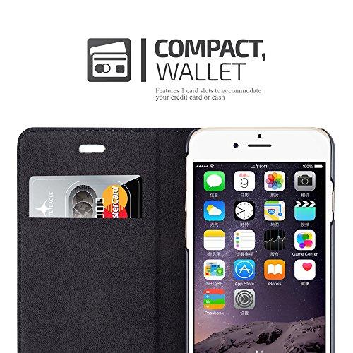 Apple iPhone 6 PLUS Hülle in CAPPUCCINO-BRAUN von Cadorabo - Handy-Hülle mit unsichtbarem Magnet-Verschluss Standfunktion und Karten-Fach Case Cover Schutz-hülle Etui Tasche Book Klapp Style PETROL-TÜRKIS
