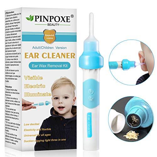 Ohrenreiniger, Ear Wax Cleaner, Ohrwachsentferner, Ohrenschmalz Entferner Ohrwachs Entfernungs Ohr Schmalz Reiniger mit 3 entfernbaren Silikon Aufsatzen, Kleinkinder,Babies,Jugendliche Erwachsene