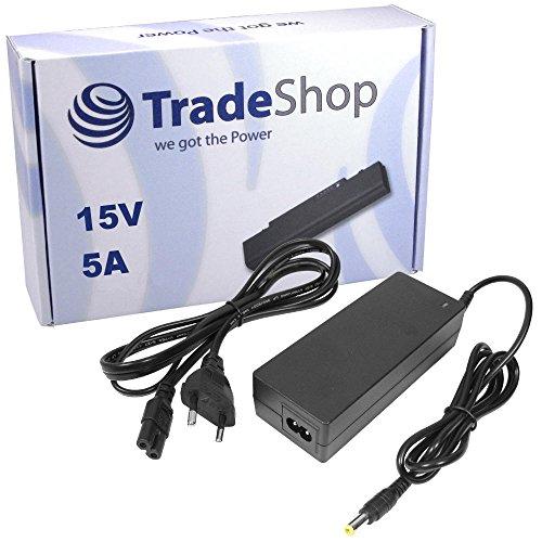 Notebook Laptop Netzteil Ladegerät Ladekabel Adapter 15V 5A 75W 6,3mm x 3mm Stecker inkl. Stromkabel für TOSHIBA Tecra M2V-S310 M2V-S330 M2V-3302ST M3 M4 M6 M7 S1 S2 S3 TE2000 TE2100 TE2300 (15v 5a Netzteil)