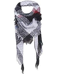 Foulard Femme,Mode Élégant Chaud Écharpe Vintage Lattice Fringe Carré  Longue Wrap Châle Automne Hiver 4c9a6919348