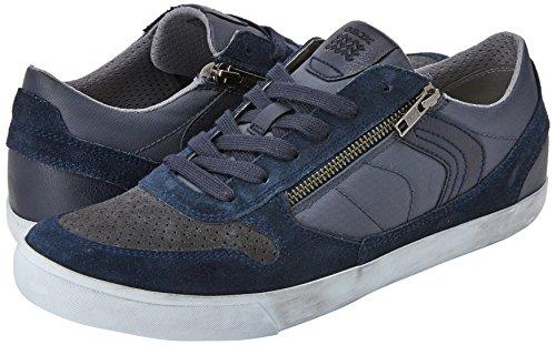 Geox U Box C, Sneakers Basses Homme Bleu (Navy/dark Grey)