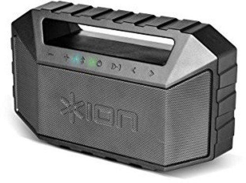 ION Audio Plunge - Altoparlante Stereo Bluetooth Portatile e Ricaricabile da 20 W con Grado di Impermeabilità IPX7, Controlli di Trasporto e Microfono Integrato per Chiamate in Vivavoce, Nero