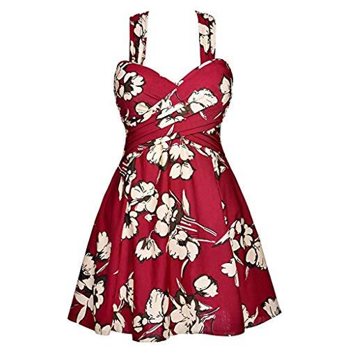 TOPKEAL Damen Abnehmen Bikini Set Swimsuits Push up Bademode Weiches  Badeanzüge für Frauen Beachwear Badekleid Mit Tangas Mode 2019 (Rot, X-Large)