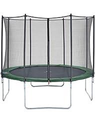 CZON Sports-trampoline exterieur enfant | Filet De Securite|Trampoline De Jardin| 250 cm-430 cm Vert