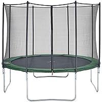 CZON SPORTS trampolino, 250 cm tappeto elastico con rete di sicurezza, verde trampolino elastico da giardino trampolino bambini