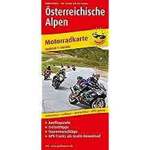 Österreichische Alpen: Motorradkarte mit Ausflugszielen, Einkehr- & Freizeittipps und Tourenvorschlägen, wetterfest, reissfest, abwischbar, GPS-genau. 1:250000 (Motorradkarte / MK)