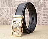 WRH Belts Cinturones De Los Hombres Cinturón Hebilla Automática Cinturón De Cuero De Los...
