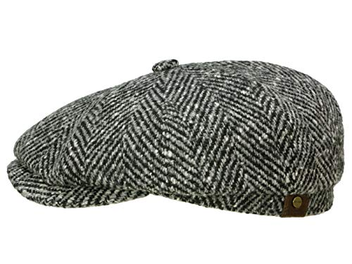 7fc732d77a19 stetson gatsby hatteras mujer/hombre | made in the eu de invierno newsboy  con visera, forro otoño/invierno | 61 cm negro