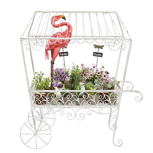 YHEGV Blumenständer Everyday Home American Country Retro Schmiedeeisen Dekoration Kleine Balkon Garten Blumenladen Hochzeitszeremonie Dekoration Rahmen