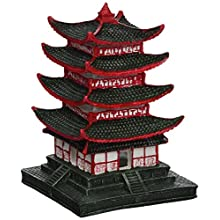 Aqua Della Chinese Pagoda Aquarium Decoration, 10 x 10 x 14 cm