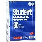 10 Brunnen Collegeblöcke Student A4 Lineatur 27, liniert 80 Blatt + 10 Brunnen Collegeblöcke Student A4 Lineatur 28 kariert , 80 Blatt weiß