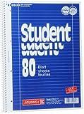 Brunnen 106792718 1067927 Notizblock/Collegeblock Student (A4, liniert, Lineatur 27, 70 g/m², 80 Blatt) 5 Stück