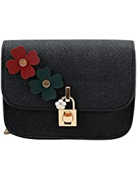 Blingg Flower And Golden Lock Shimmer Sling Bag Gift For Women's & Girl's/Fashionable Sling Bag For Women/Women...