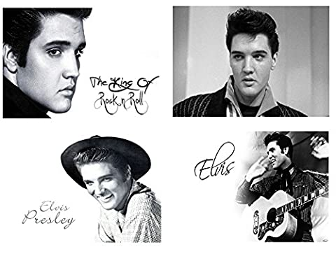 Lot de 4 sets de table Motif Elvis Presley