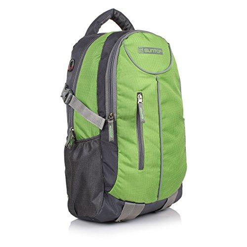 Suntop-Polyester-26-Litres-Medium-Grey-Green-Checks-Casual-Backpack