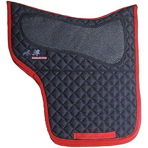 Karlslund Sella Pad, cotone, nero/rosso