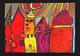 Kunstkarte HundertwasserWartende Häuser