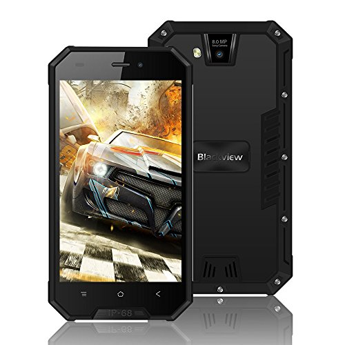 """Blackview BV4000 Pro, Outdoor Smartphone de 4.7""""HD (16GB ROM, Batería de 3680mAh, Cámara Dual de 8MP, Android 7.0..."""