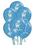 ocballoons Palloncini Battesimo Azzurrro addobbi e Decorazioni per Feste Party Confezione 20 pz