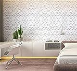BIZHI Nordic Lattice Tapete/Wohnzimmer, Schlafzimmer, TV Hintergrundbild/Einfache/Diamant-Geometrie, 0,35 * 10m, Color