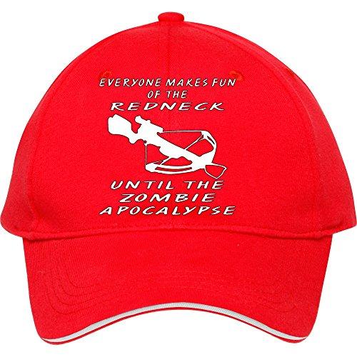 Jeder Macht Spaß der Redneck, bis die Zombie Baseball Snapback Cap. Baumwolle in Frauen-donfar Hüte verstellbar Hat, damen unisex Herren, rot Fun Trucker Hut