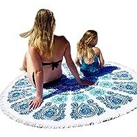 Quantità: 1 Dimensioni: Rectangle Diametro: 148cmX210cm Materiale: Poliestere Modello Tipo: Geometrico Genere: Donne Articolo Tipo: Cover-Ups Formato: un formato Contenuto del pacco: 1X Beach Cover Up Bikini Boho Summer Dress Costume da bagno...