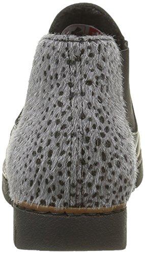 Rieker M1390, Bottes Chelsea Femme Noir (Schwarz/Grau/01)