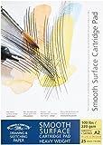 Winsor & Newton Zeichenblock, glatte Oberfläche, reinweiß,geleimt, reinweiß, 220g/m², 25 - Blatt, DIN A2