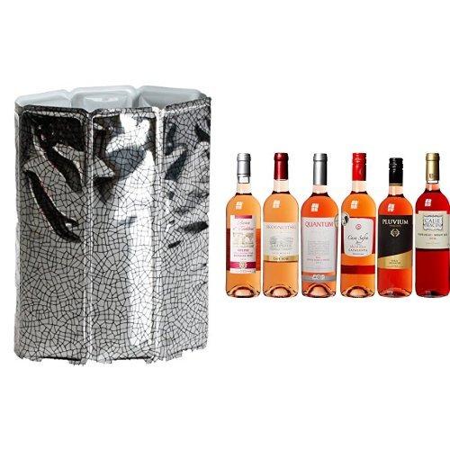 Vacu Vin Rapid Ice Weinkühler für 0,75 Liter Flaschen inkl. Wein Probierpaket selektierte...