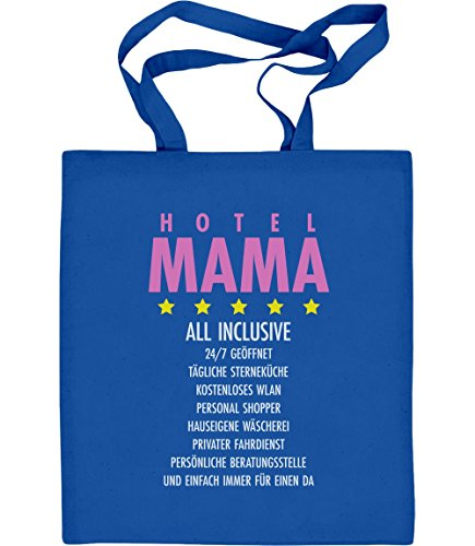 Idea Regalo - Hotel Mum All Inclusive Borsa In Cotone Di Iuta Blu