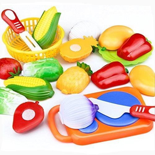 WensLTD 12PC Cutting Fruit Vegetable Pretend Play Children Kid Educational Toy
