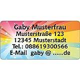 Adressaufkleber - Adressetiketten - Namensetiketten Farben1-210 Stück 54 x 25...