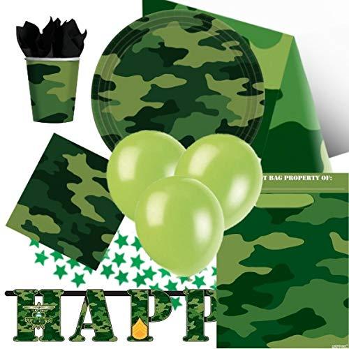 Tarnmuster Armee Thema Ultimate Party Kit für 8 (Camouflage Party Dekorationen)