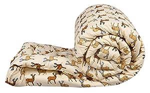 Dhawariya'S Cotton 200TC 1 Comforter ( Single, Cream)