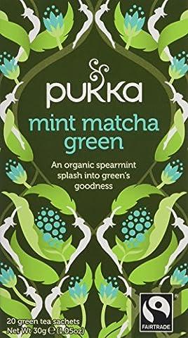 Pukka Organic Mint Matcha Green 20 Teabags (Pack of 4, Total 80)