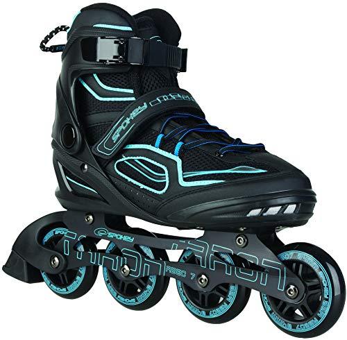 Spokey Erwachsene (Unisex) Taron Skates Inline Blades | ABEC 7 Karbon | Aluminium Blau, 46