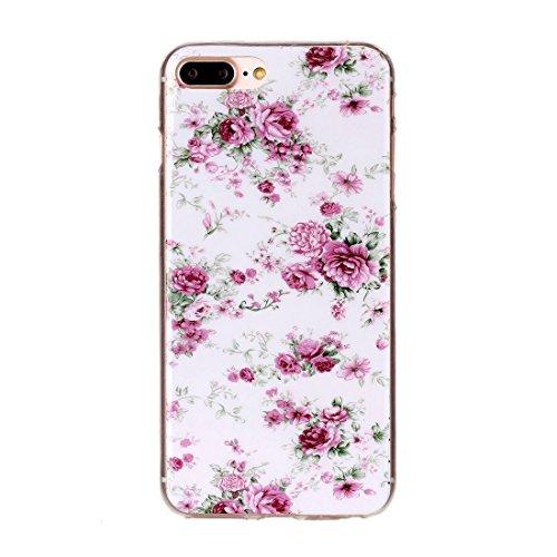 Hülle für iPhone 7 plus , Schutzhülle Für iPhone 7 Plus Bunte Streifen und schwarze Punkte Muster Soft TPU Schutzhülle Rückseite Cover Shell ,hülle für iPhone 7 plus , case for iphone 7 plus ( SKU : I IP7P2204J