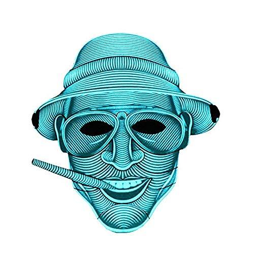 LED Party Maske sprachaktiviert, Leuchtmaske, leuchtende Glitzermaske, DJ Equipment Rave Maske zum Tanzen, Reiten, Eislaufen,Duke ()