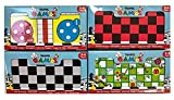 PMS Magnetic Travel Board Games Set of 4 Chess Ludo Snakes and Ladders Draughts Game