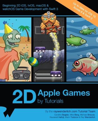 Preisvergleich Produktbild 2D Apple Games by Tutorials: Beginning 2D iOS,  tvOS,  macOS & watchOS Game Development with Swift 3