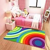 USTIDE Baby Hopscotch bambini educativi tappeto, Poliestere, Rainbow, 3.9ftx5.9ft