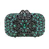 Damen Clutch Bag Dinner Bag Lady Handtasche Strass Abendkleid Damen Party Hochzeit Geldbörse Senior Umhängetasche Oval Handtasche (Color : Blue)
