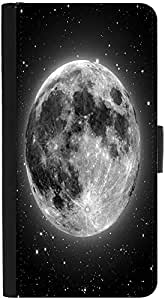 Snoogg Super Moon Designer Protective Flip Case Cover For Htc One S